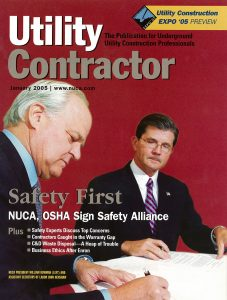 Utility Contractor January 2005 cover