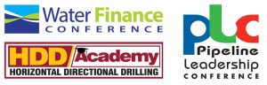 Water Finance Conference, HDD Academy, Pipeline Leadership Conference
